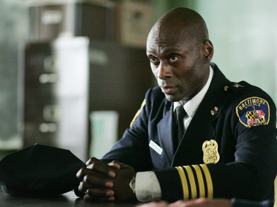 Lance Reddick as Major Cedric Daniels on the HBO original series 'The Wire.'