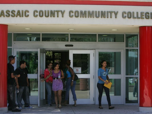 PCCC ENROLLMENT IS UP: Students at Passaic County Community College.