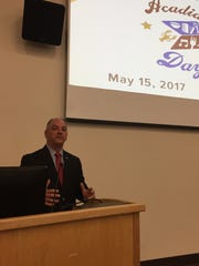 Gov. John Bel Edwards spoke during a One Acadiana event at the Capitol Monday.