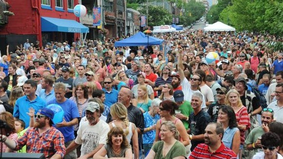 Downtown After 5 packed North Lexington Avenue earlier this year.
