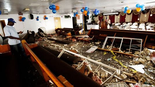 Moise Gourdet, a member of the Second Haitian Baptist Chruch in Fort Myers, says he was one of the victims that was pinned under a car that plowed through the building Sunday. He says the pews and God saved his life.