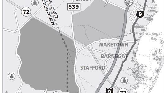 Proposed location of jetport and supporting city.