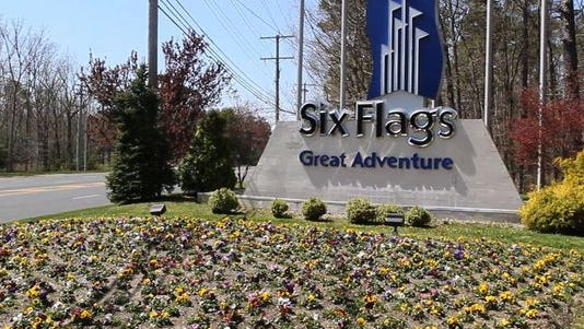 The entrance to Six Flags Great Adventure in Jackson is seen in this 2013 file photo.