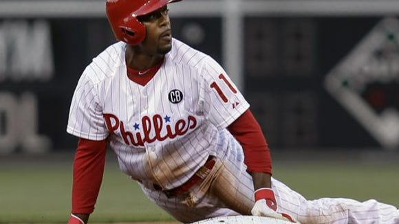Jimmy Rollins got a day off as a precaution