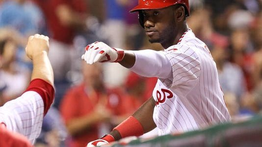 Philadelphia Phillies left fielder Domonic Brown  has struggled with strep throat. He'll see doctors this week.