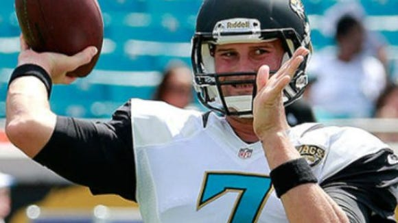 Chad Henne is starting at quarterback for Jacksonville ahead of rookie and No. 3 overall draft pick Blake Bortles.
