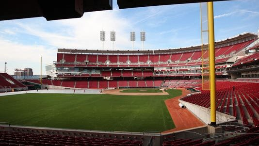 Reds Opening Day at Great American Ballpark is Monday, and the forecast is predicting temperatures in the upper 60s.