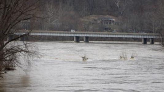 Crews have been searching for a man who jumped or fell into the Great Miami River April 4.