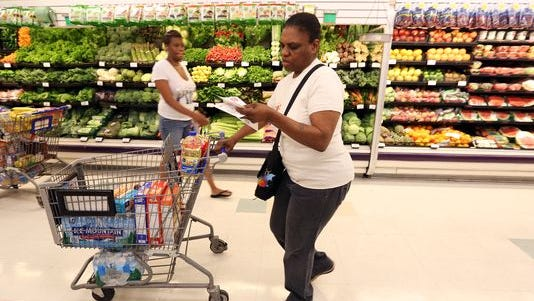 Carolyn Newton shops at the Vine St Kroger in Over-the-Rhine.