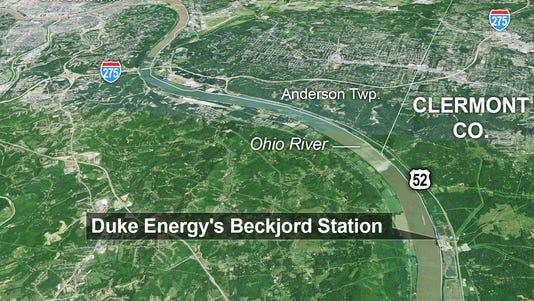 Location of Duke Energy's Beckjord Station