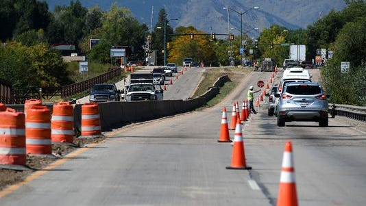 Construction on the Mulberry Street Bridge over the Poudre River between Riverside and Lemay avenues limits traffic on Thursday, Sept. 18. The Colorado Department of Transportation plans to replace the bridge in a project that is expected to run to November 2015.