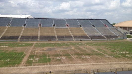 Ross-Ade Stadium playing surface in June, 2014.