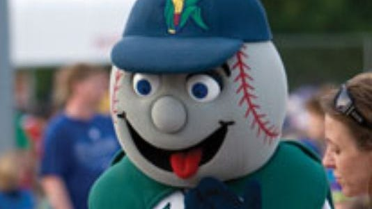 Cedar Rapids Kernels mascot Mr. Shucks