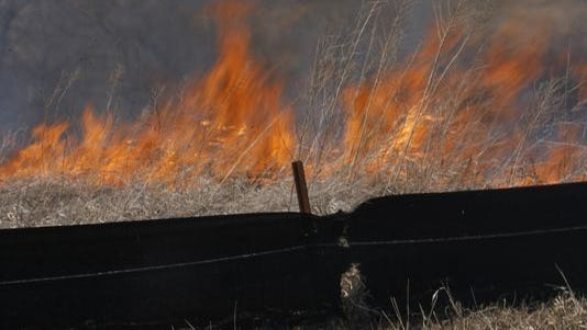 A 2008 brush fire near Waukee.