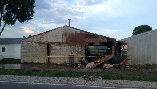 A truck crash caused severe structural damage Tuesday to a mechanical building at a privately owned airfield near Dallas Center.