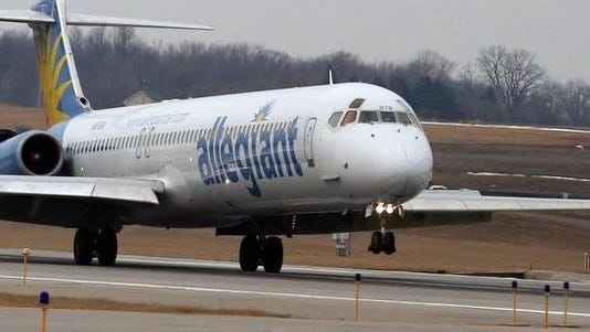 Allegiant Air is debuting a new direct flight to Punta Gorda, Fla. The flight in this photo is arriving from Tampa.