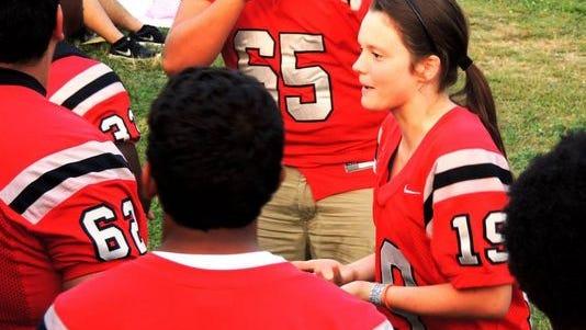 Shelby Osborne (19) seen on the sideline