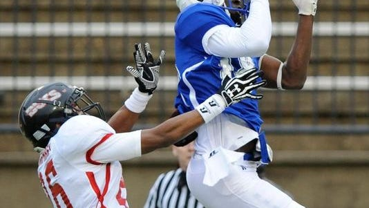 Ole Miss wide receiver Sammie Epps competes during the Mississippi/Alabama All-Star Game.
