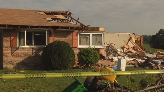 Kingsport home damaged by tornado (Photo: )