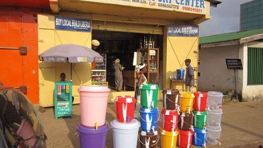 According to local reports in Liberia the sale of water buckets there has increased dramatically, because they are used by Liberian people to fill with disinfectant and to wash their hands to prevent the spread of the deadly Ebola virus.