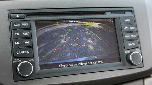 The 2013 Nissan Sentra has a rear view camera. (Photo: Evan Sears, Cars.com)