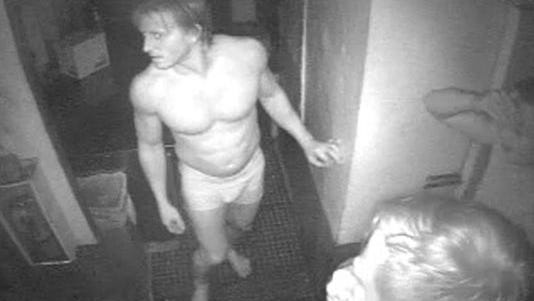 Southwest Florida Crime Stoppers is asking for the public's help identifying three naked and nearly naked men who broke into a local beachside restaurant and made off with burgers, bacon and red peppers.