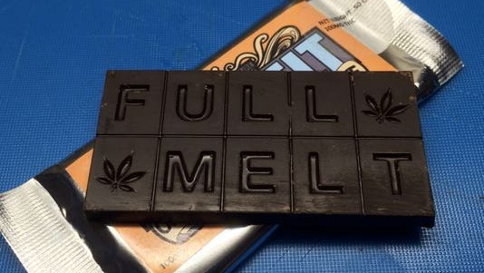 This marijuana-infused chocolate bar is sold in Colorado. In New Mexico, officials reported a fifth-grader handed out her parents' medicinal marijuana edibles as candy for students.