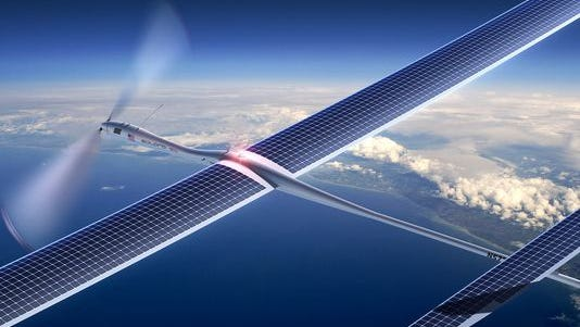 A Titan drone, solar powered and able to fly for 5 years without refueling.