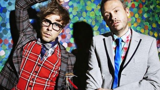Felix Burton, left, and Simon Ratcliffe are electronica duo Basement Jaxx.