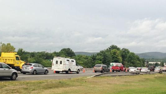 Major delays on I-87 northbound as police investigate a serious crash involving a wrong-way driver.