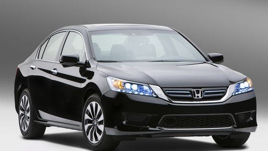Honda Accord, seen here as the 2014 hybrid version, is the most stolen and recovered car by LoJack