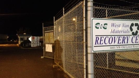 A body was found at a Vancouver area recycling center.