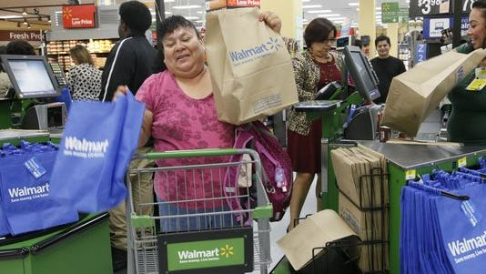 Walmart tops of the list of the country's most popular stores.