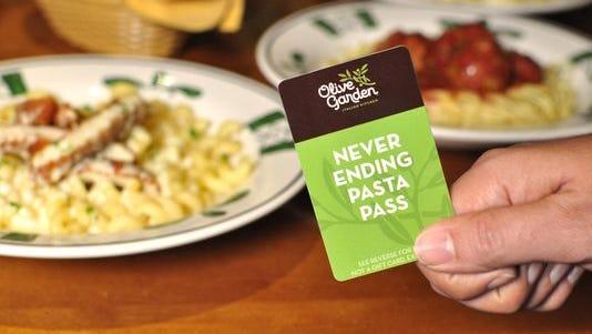 Olive Garden's never ending pasta promo.