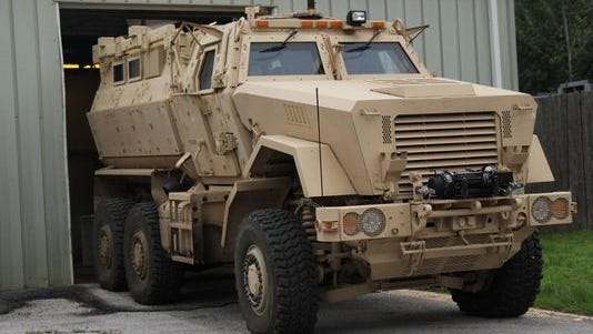 The Nixa Police Department received a Mine-Resistant Ambush Protected vehicle (MRAP) a few years ago.