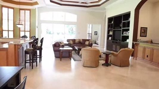 This is the inside of Chris Carpenter's Florida home.