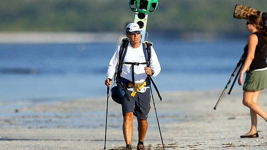 Google Maps team member David DeLong maps Fort Myers Beach in October.