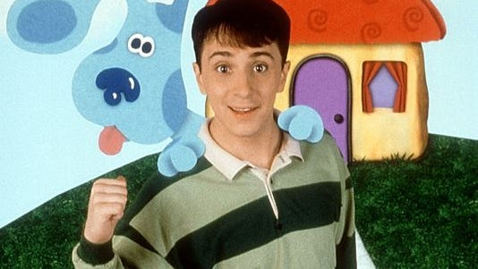 "Blue's Clues Steve and Blue from Nickelodeon's ""Blue's Clues""."