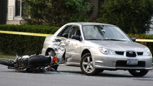 A recent crash at North Broadway and Benedict Avenue in White Plains left a motorcyclist seriously injured.