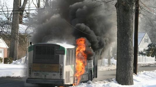 A fire on a TOR bus in Pearl River occurred Feb. 8.