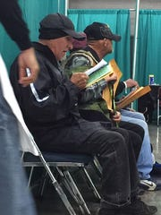 Vets wait to for services at Maricopa County Stand