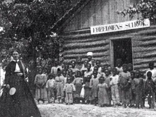 The Freedmen's Bureau, created to help former slaves, created schools and hospitals, handling tasks from recording births and deaths to distributing rations of food and clothing.