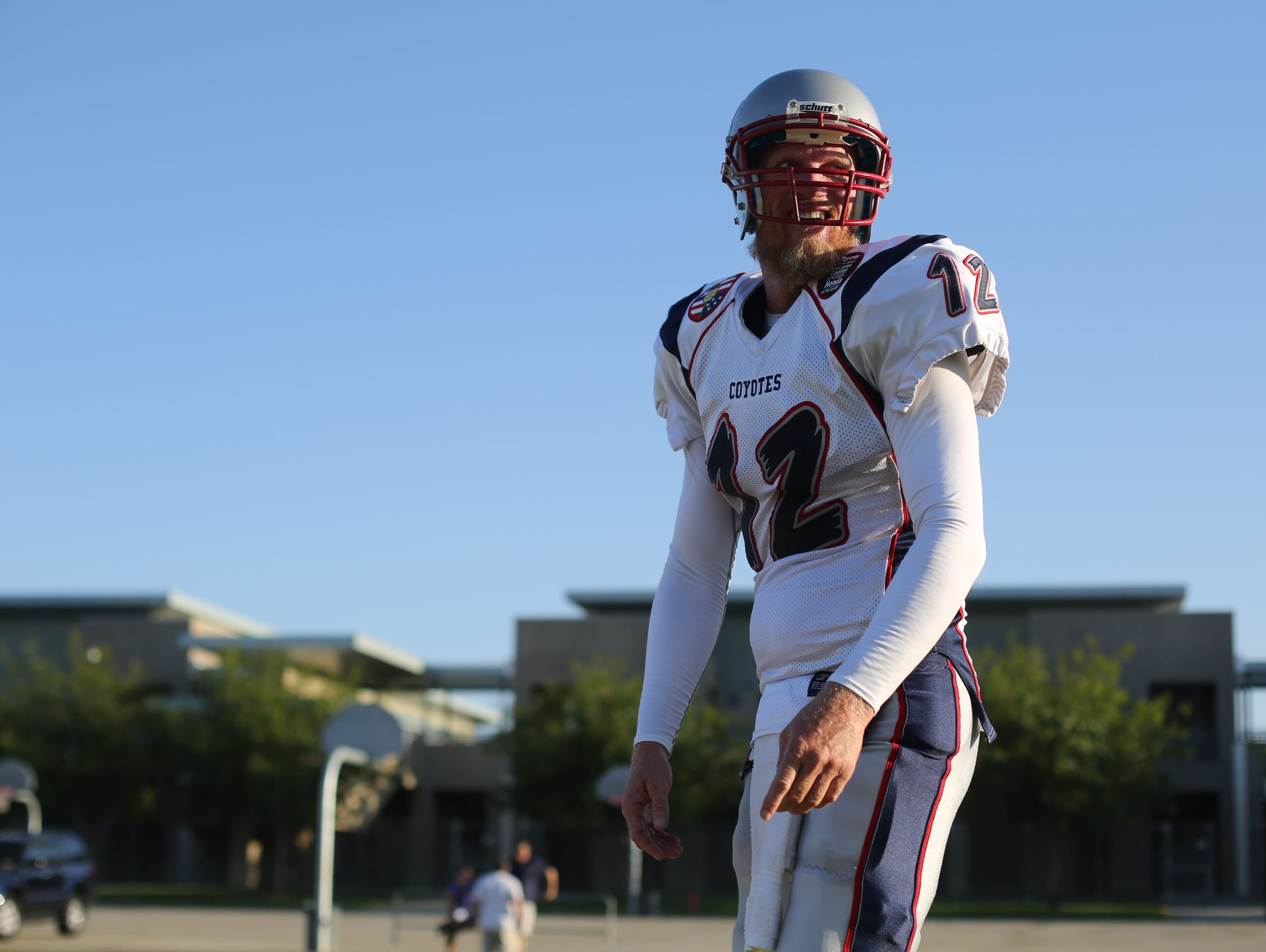 Former USC and Oakland Raiders quarterback Todd Marinovich,