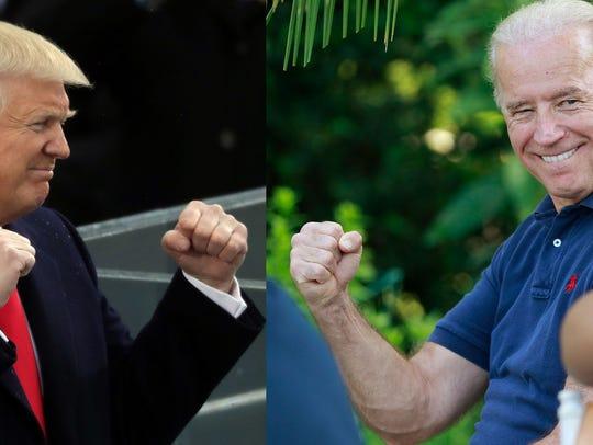 Trump versus Biden. And the creepier old guy is...