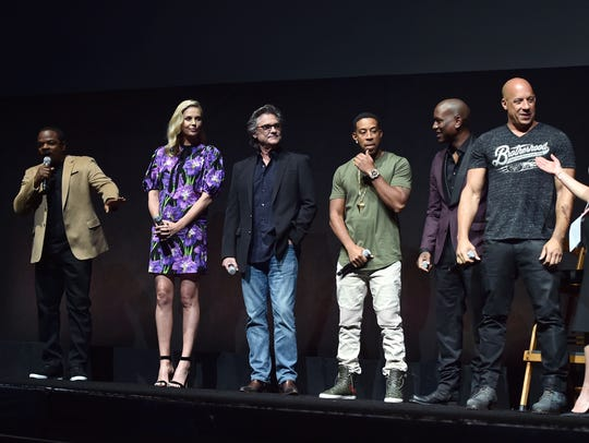 'Fate of the Furious' director F. Gary Gray (from left)