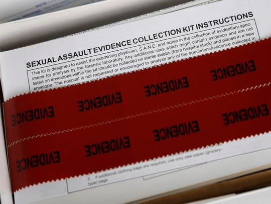 A sexual assault evidence collection kit at Rape Crisis