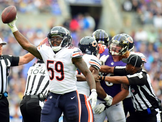 USP NFL: CHICAGO BEARS AT BALTIMORE RAVENS S FBN BAL CHI USA MD