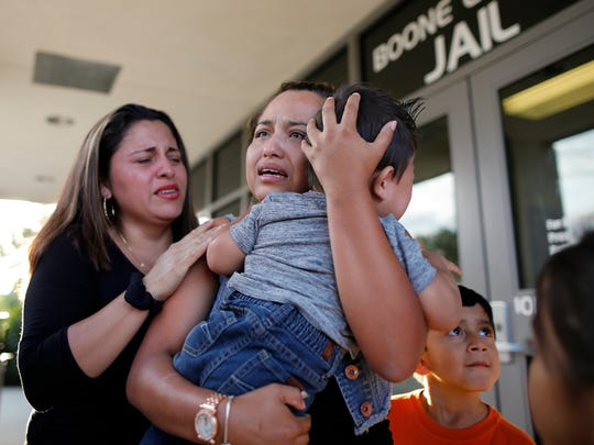 Thurs., Aug. 24, 2017  The most emotional photo I captured this year was of Riccy Enriquez Perdomo's release from custody following an error in the paperwork regarding her immigration status. A legal resident, Riccy was held from her family for a week with no certainty of her release after President Trump announced rollbacks on the DACA program. The relief of her family as she walked out of the jailhouse doors was some of the most raw emotion I've ever witnessed.