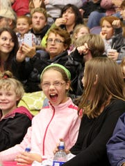 Fans having fun during the Reading at Elmira preseason game at First Arena on Oct. 10.