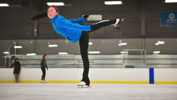 Emma Miller works on a camel move during the Sioux